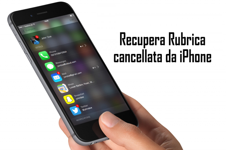 Recupera Rubrica cancellata da iPhone