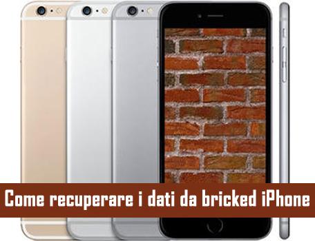 Come recuperare i dati da bricked iPhone