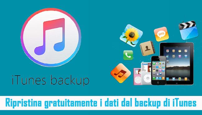 Estrarre i dati dal backup di iTunes gratuitamente