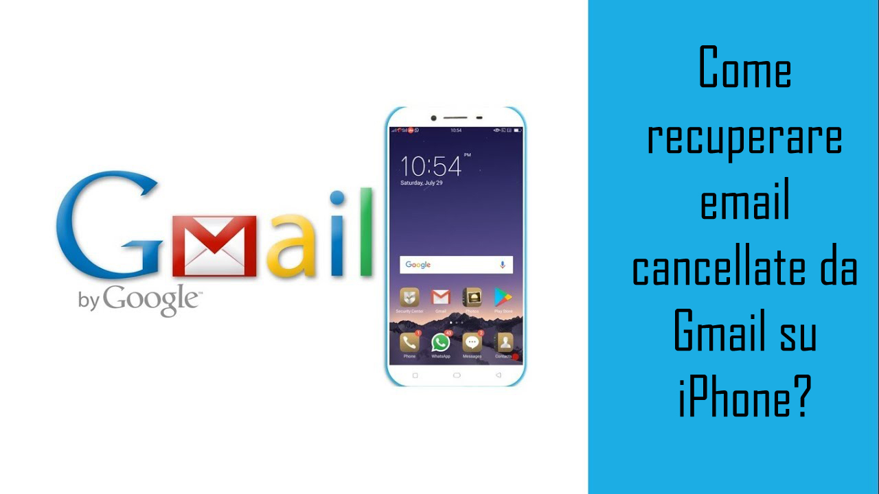 Come recuperare email cancellate da Gmail su iPhone